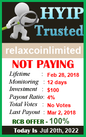 hyip-trusted.net - hyip relax coin limited